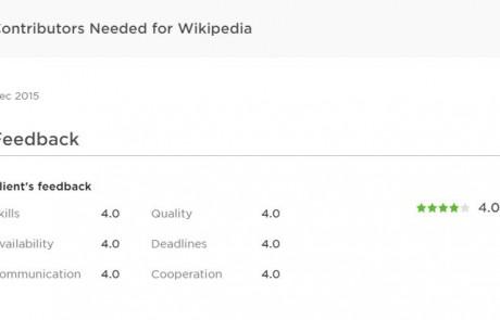 wikipedia article writing service