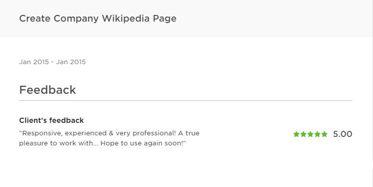 Wikipedia page creation service